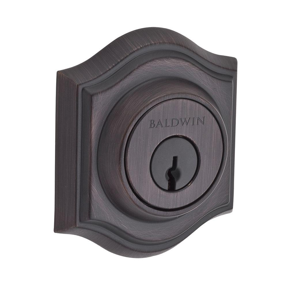 Reserve Traditional Single Cylinder Venetian Bronze Arch Deadbolt