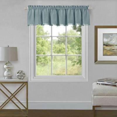 Wallace 14 in. L Polyester Valance in Aqua
