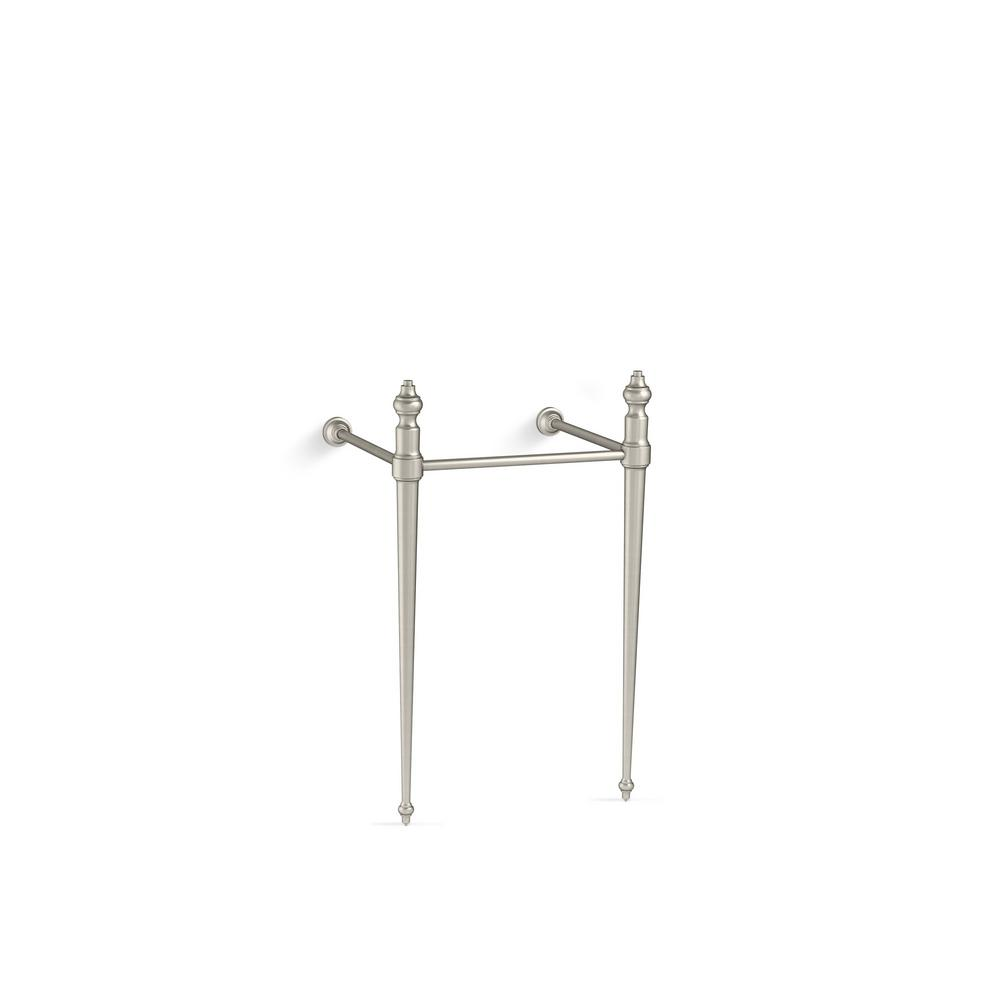 Memoirs Console Table Legs in Vibrant Brushed Nickel