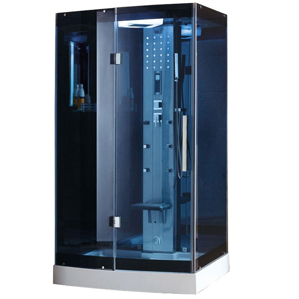 ariel p enclosure shower steam kits kit glass tempered in x blue ws