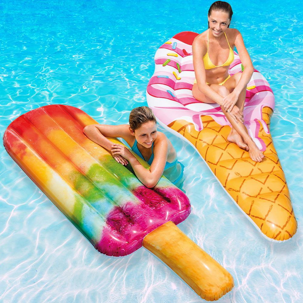 Intex Ice Cream Mat and Popsicle Pool Float Combo Pack