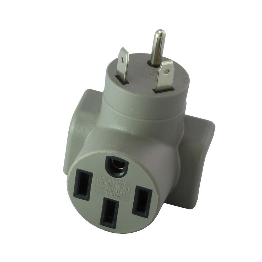 Ac Works Evse Charging Adapter Rv Tt 30p 30 Amp Plug To 50