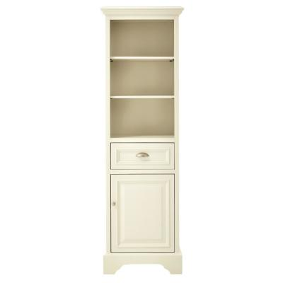 Sadie 20 in. W Linen Cabinet in Matte Pearl