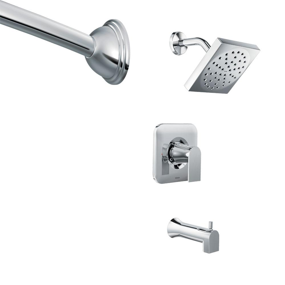 Genta Single-Handle 1-Spray Tub and Shower Faucet in Chrome with Shower