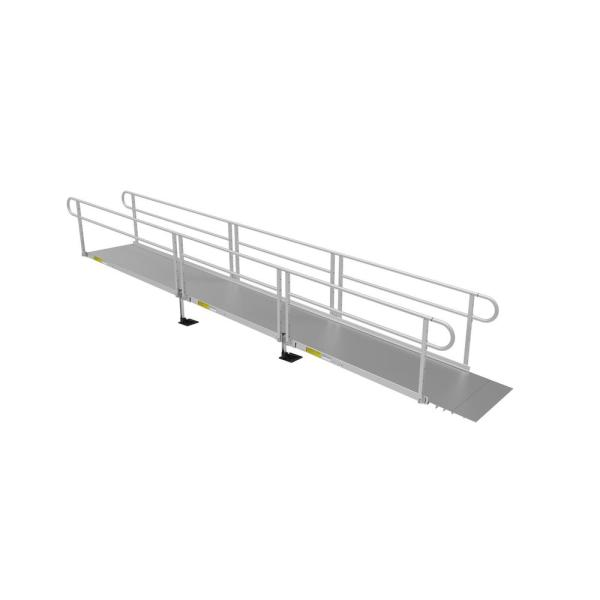 PATHWAY 3G 20 ft. Wheelchair Ramp Kit with Solid Surface Tread and Two-line Handrails