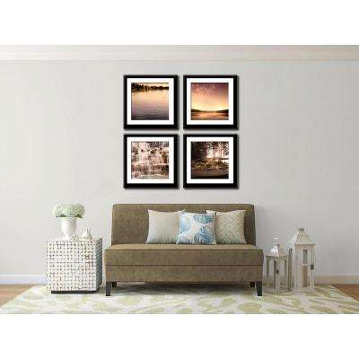 Four 10 in. x 10 in. Pure by Neeva Kedem Framed Printed Wall Art