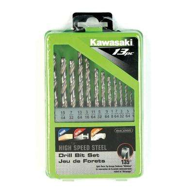 High Speed Steel Drill Bit Set (13-Piece)