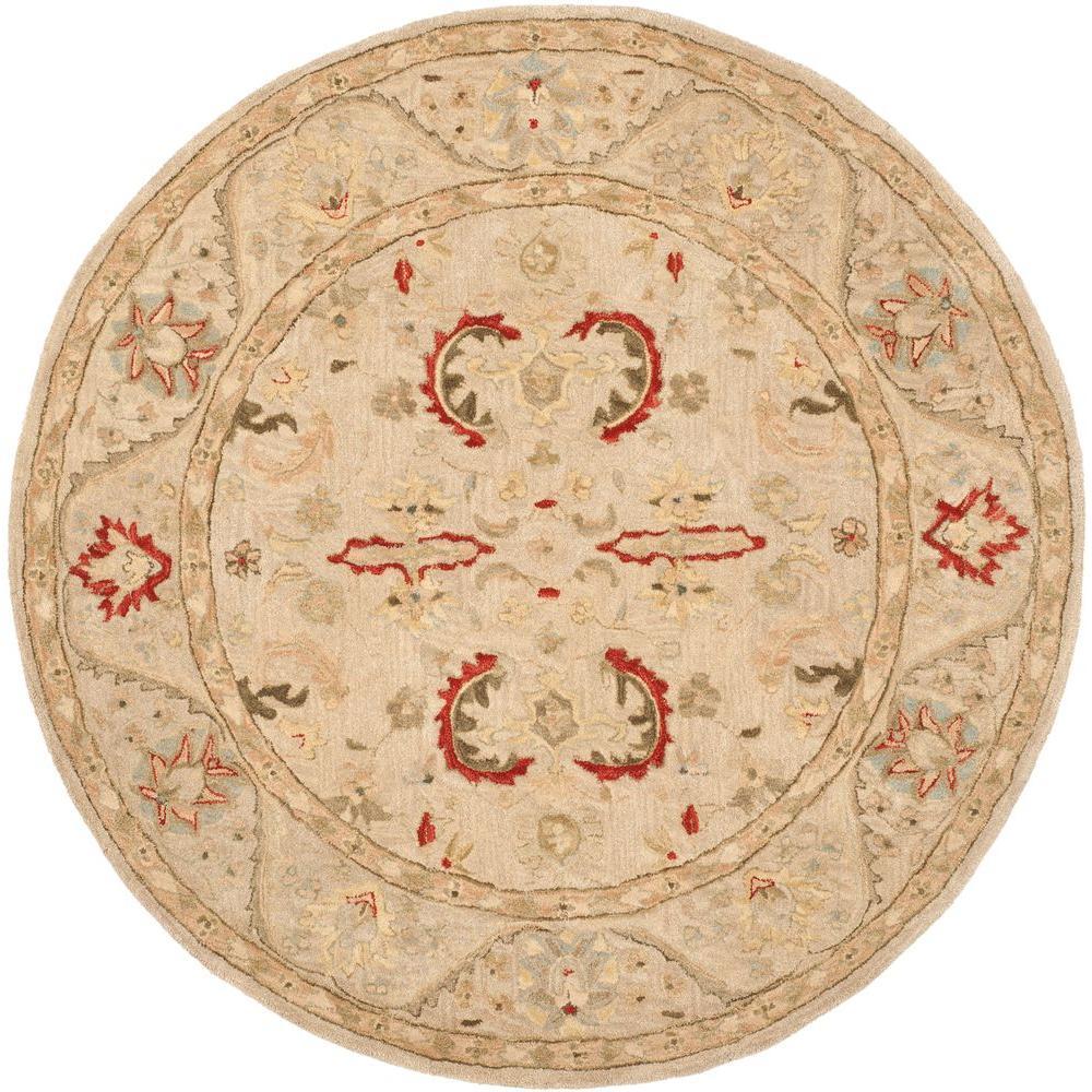 Safavieh Anatolia Beige 6 ft. x 6 ft. Round Area Rug