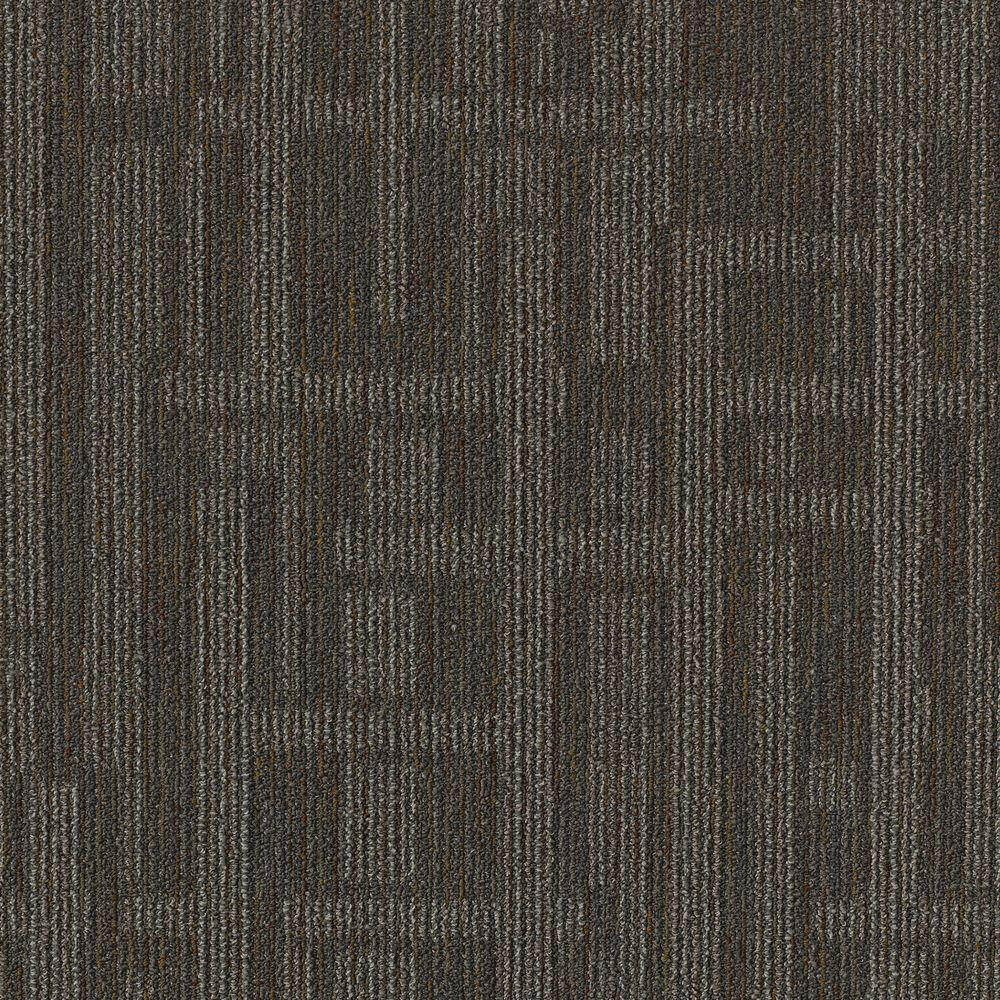 Grey-350 Self Adhesive Carpet Tile 12 Tiles//12 sq Ft. Easy to Peel and Stick Carpet Floor Tile