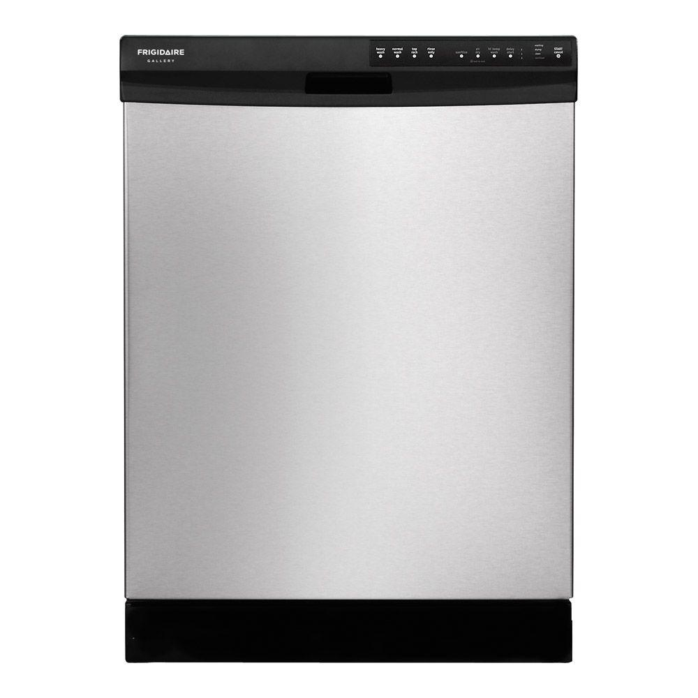 Frigidaire Gallery 24 in. Front Control Dishwasher in Stainless Steel