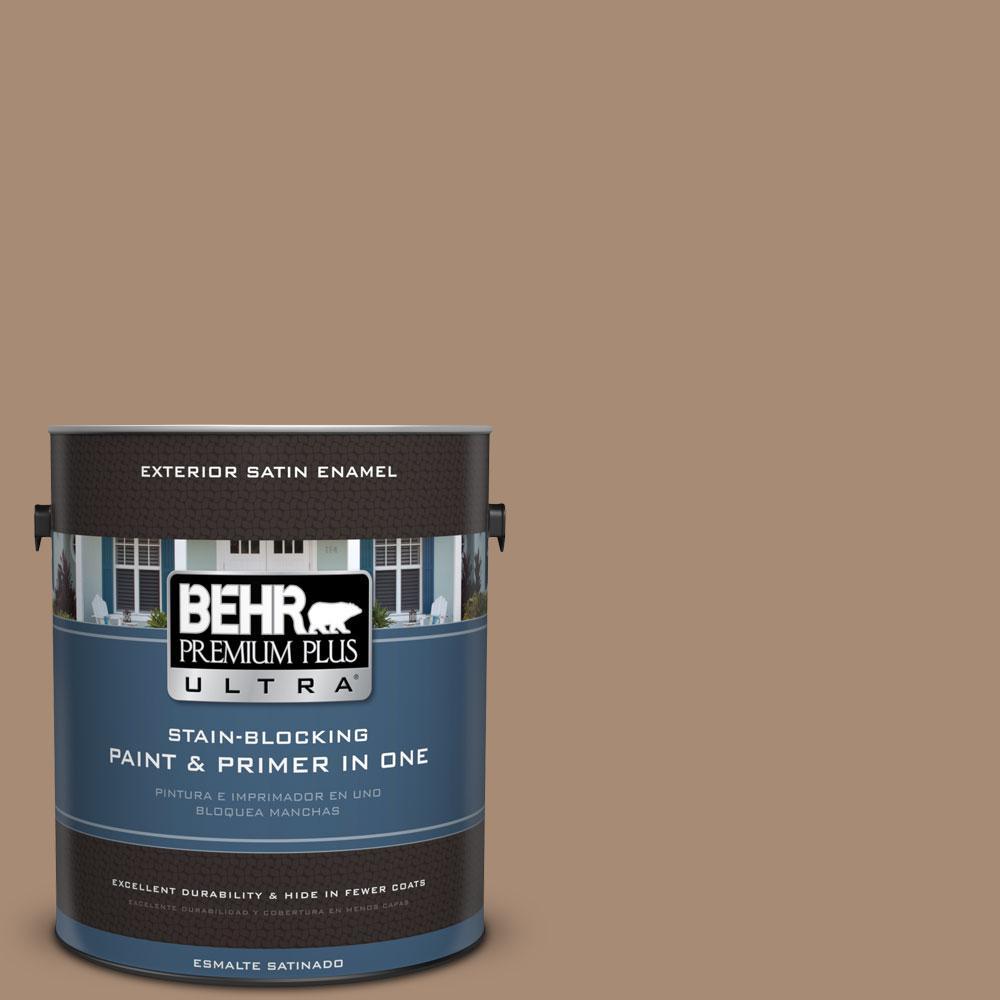 BEHR Premium Plus Ultra 1-gal. #N240-5 Rodeo Tan Satin Enamel Exterior Paint