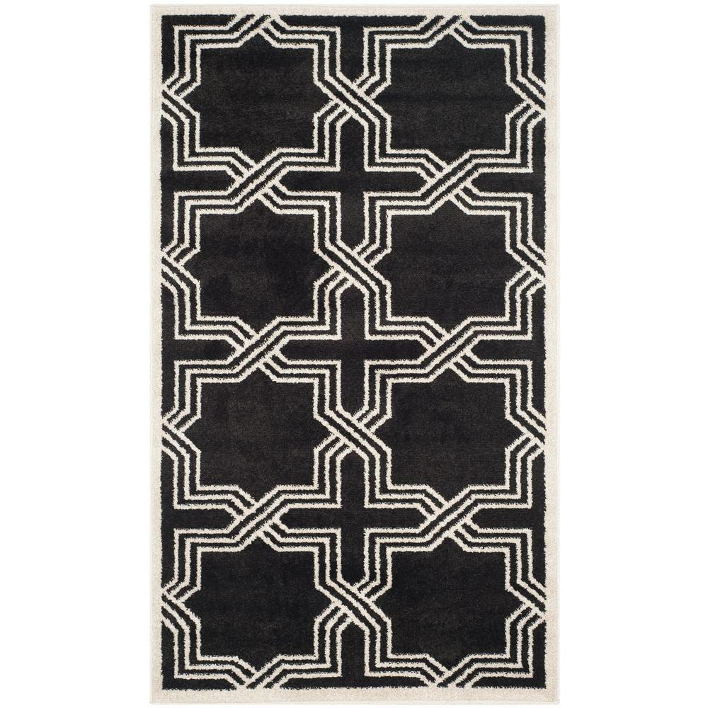 Amherst Anthracite/Ivory 4 ft. x 6 ft. Indoor/Outdoor Area Rug