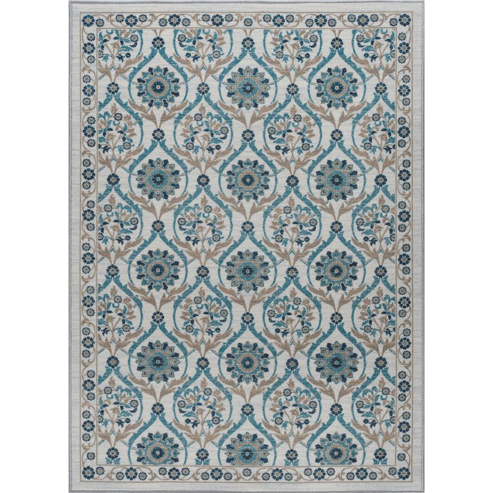 tayse rugs majesty cream 5 ft x 7 ft transitional area rug mjs2517 5x7 the home depot. Black Bedroom Furniture Sets. Home Design Ideas