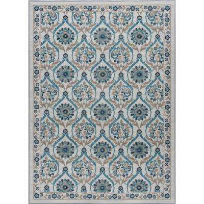 Majesty Cream 7 ft. 6 in. x 9 ft. 10 in. Transitional Area Rug