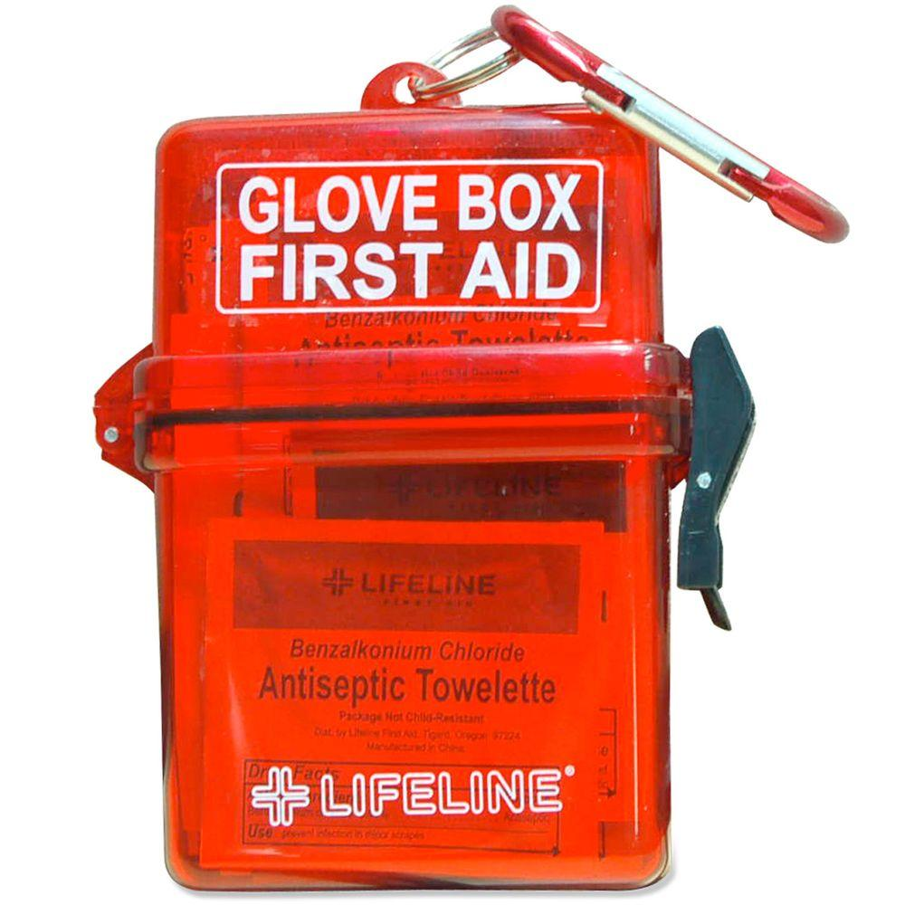 Lifeline 28-Piece Weather Resistant Glove Box First Aid Kit-DISCONTINUED