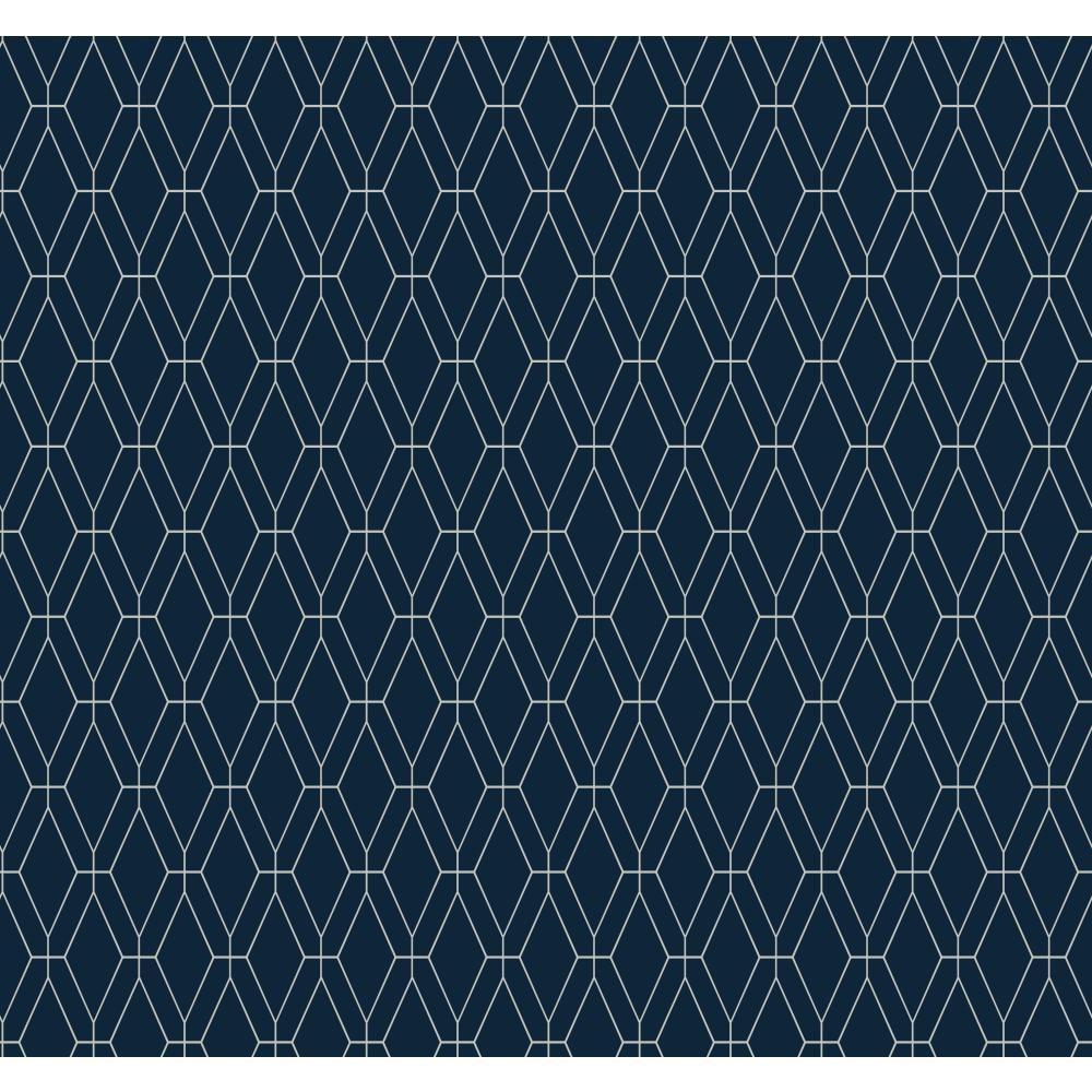 York Wallcoverings Ashford Geometrics Diamond Lattice Wallpaper by York Wallcoverings