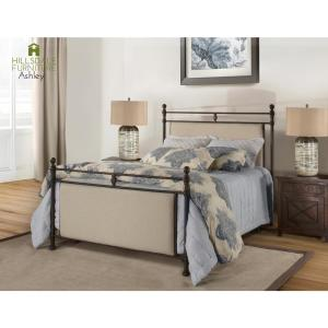 3247d8fec292 Internet  305009387. Hillsdale Furniture Ashley Rustic Brown and Linen  Stone Fabric Queen ...