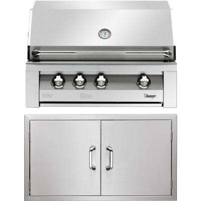 36 in. Built-In Natural Gas Grill in Stainless with Sear Zone and Double Access Doors