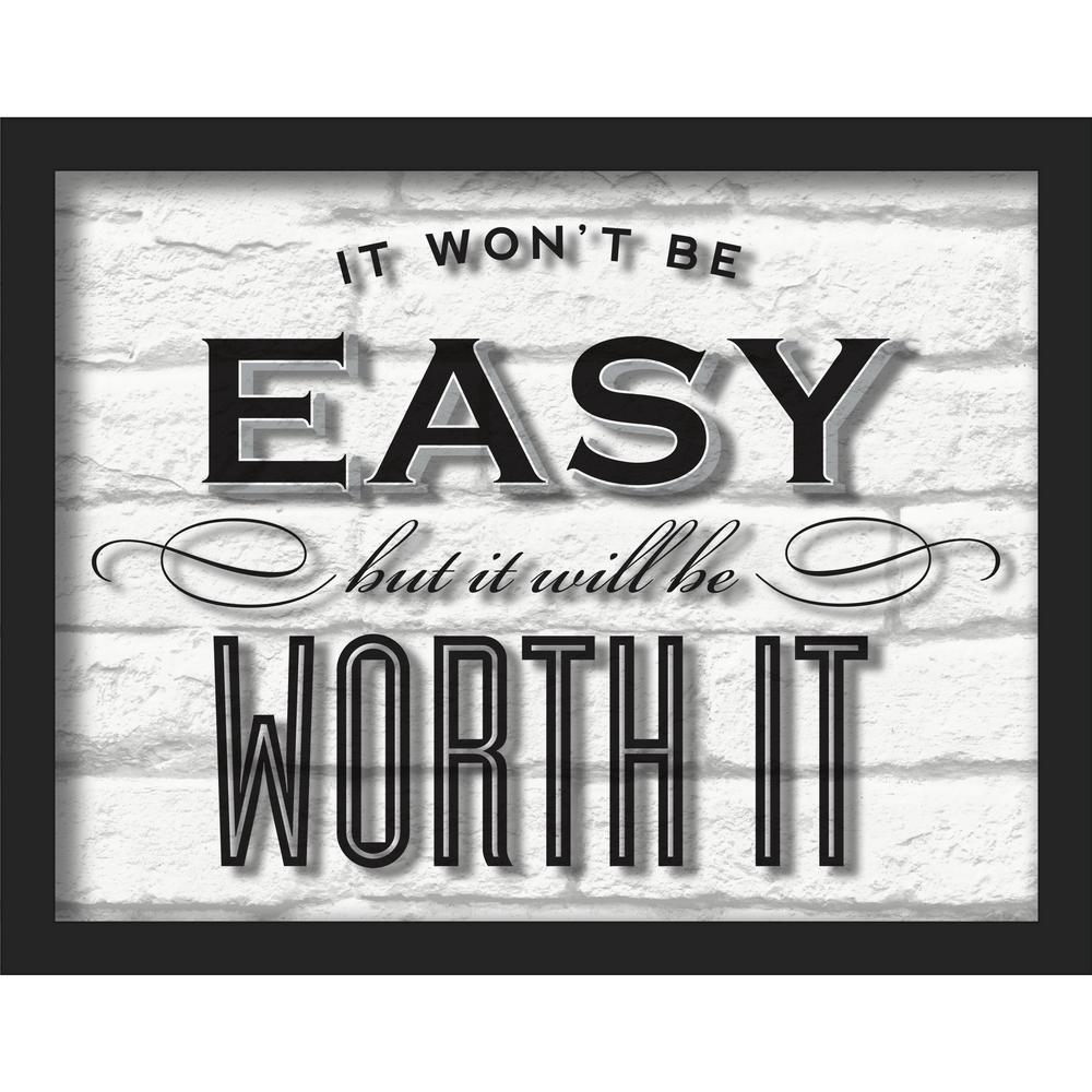 "14 in. x 11 in. ""Worth It"" Shadowbox Wall Art"