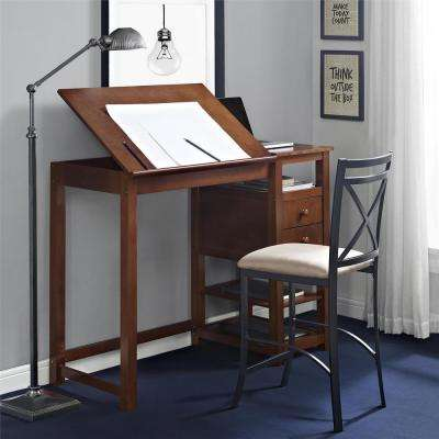 Espresso Drafting and Craft Counter Height Desk