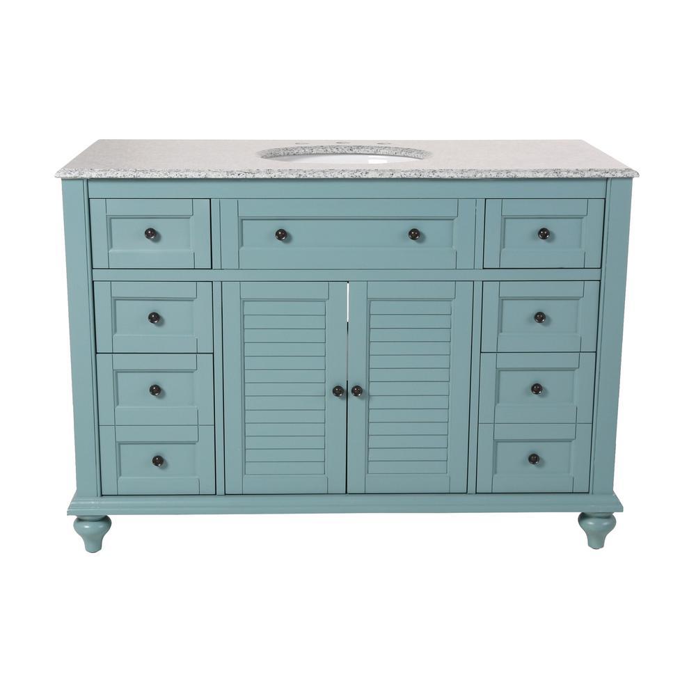 Home Decorators Collection Hamilton Shutter 49.5 in. W x 22 in. D ...