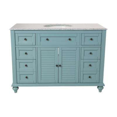 D Bath Vanity In Sea Gl