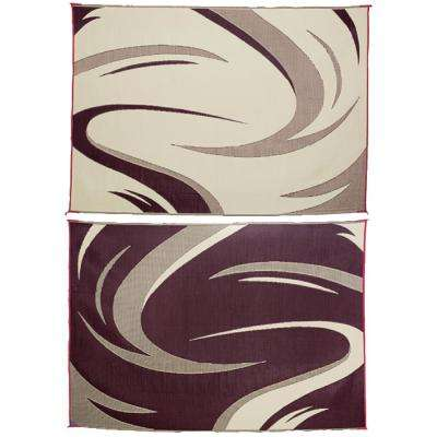 8 ft. x 18 ft. Swish Burgundy/Tan Reversible Mat