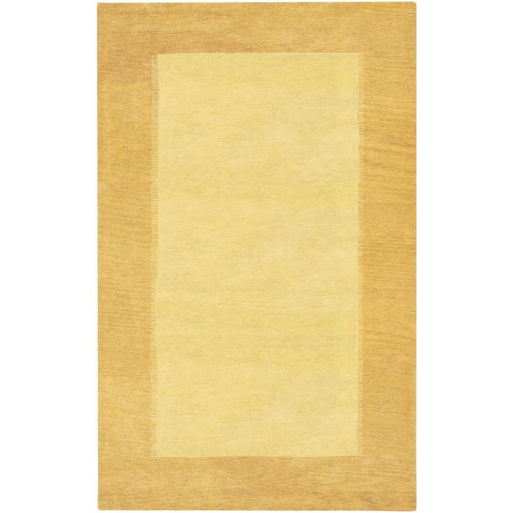 Chandra Metro Yellow Cream 8 Ft X 11 Indoor Area Rug