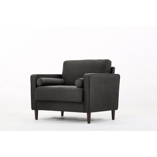 Lifestyle Solutions - Lillith Mid Century Modern Chair in Heather Grey