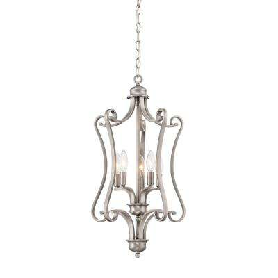 Haven 5-Light Satin Pewter Pendant