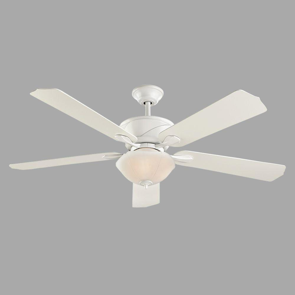 home decorators collection shenandoah 60 in white ceiling fan with dc motor 51560 the home depot. Black Bedroom Furniture Sets. Home Design Ideas