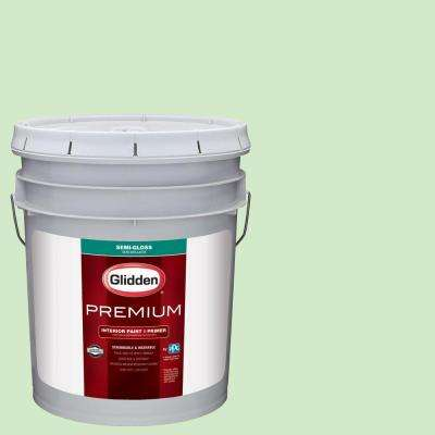 5 gal. #HDGG42D Mint Shake Semi-Gloss Interior Paint with Primer