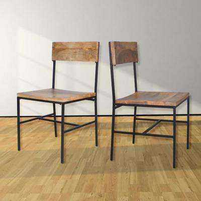 Berkshire Natural and Black Dining Chair (Set of 2)