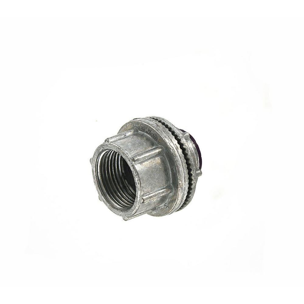 Watertight 3/4 in. Conduit Hub for use with Intermediate Metal Conduit (IMC) or Rigid Conduit, Zinc