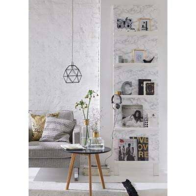 17 in. x 78 in. Marble Grey Self Adhesive Film (2-Pack)