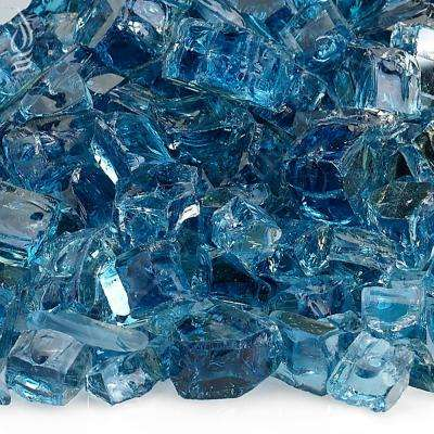 1/2 in. Pacific Blue Reflective Fire Glass 10 lbs. Bag