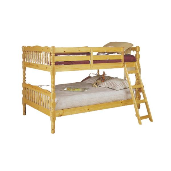 Amelia Natural with Solid Wood Pine Full Bed