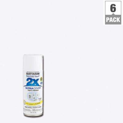 12 oz. White Flat General Purpose Spray Paint (6-Pack)
