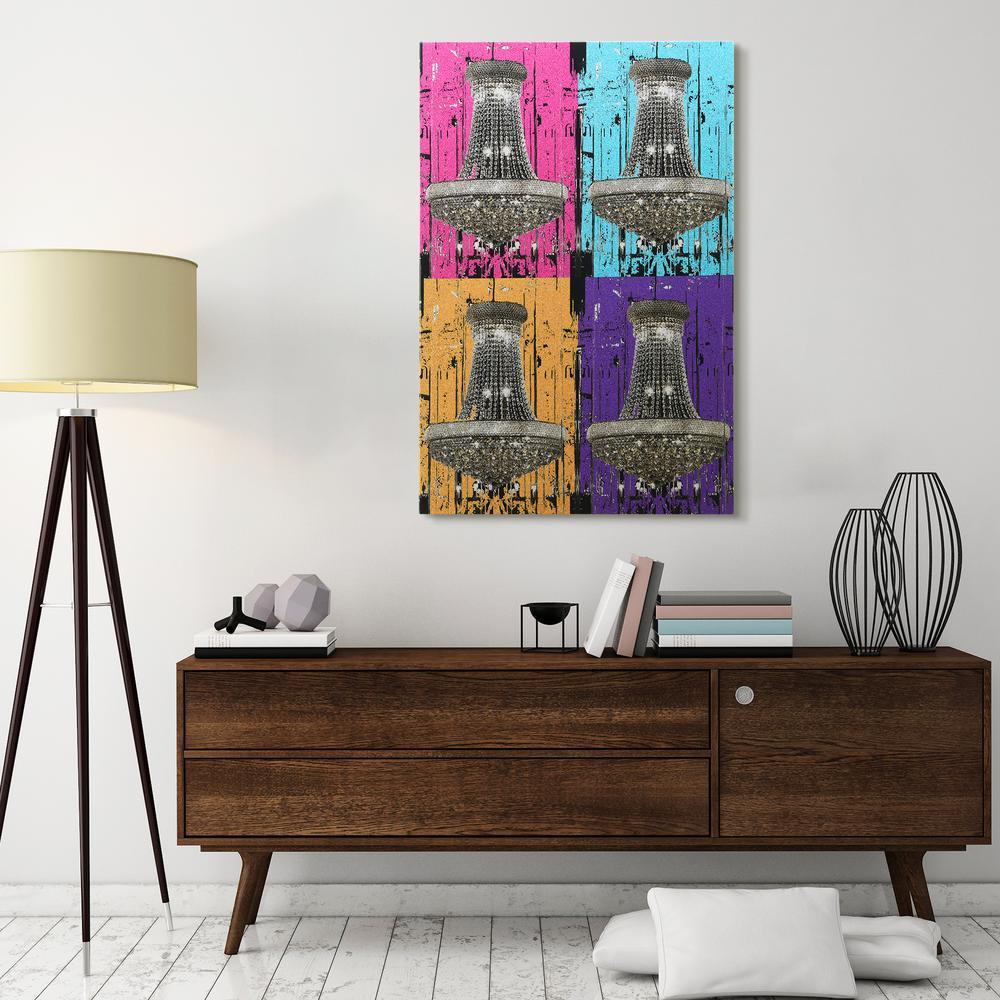 """Warhol Chandi Glitter"" High Resolution Graphic Art Print on Wrapped Canvas Wall Art"