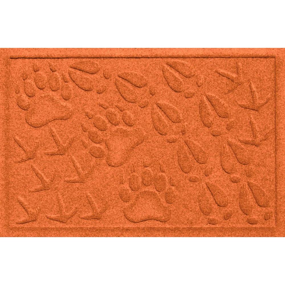 Aqua Shield Animal Tracks Orange 17.5 in. x 26.5 in. Pet Mat