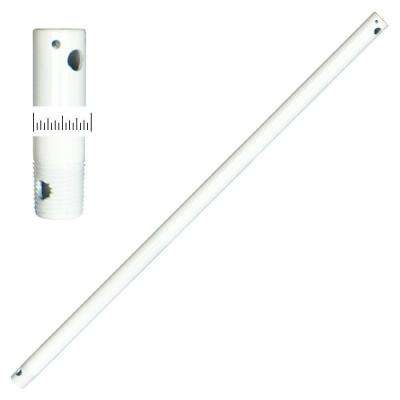 1/2 Dia 24 in. Pure White Extension Downrod