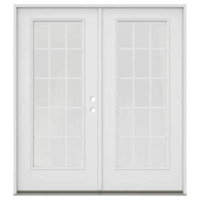separation shoes 5ff3c c51f6 72 in. x 80 in. Primed Steel Left-Hand Inswing 15 Lite Glass  Active/Stationary Patio Door