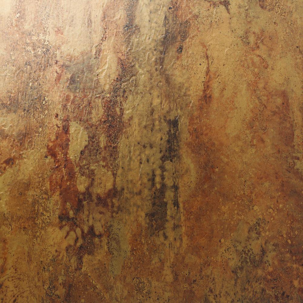 Floorworks urban bronze 18 in x 18 in glue down luxury for Who makes downs luxury vinyl tile