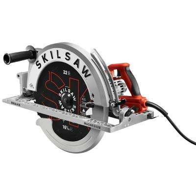 16-5/16 in. 15 Amp Corded Electric Magnesium Worm Drive Circular Saw with 32-Tooth Carbide Blade