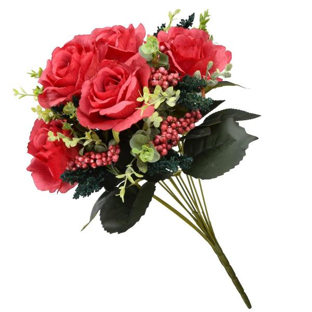 19 in. Red Rose Bundle