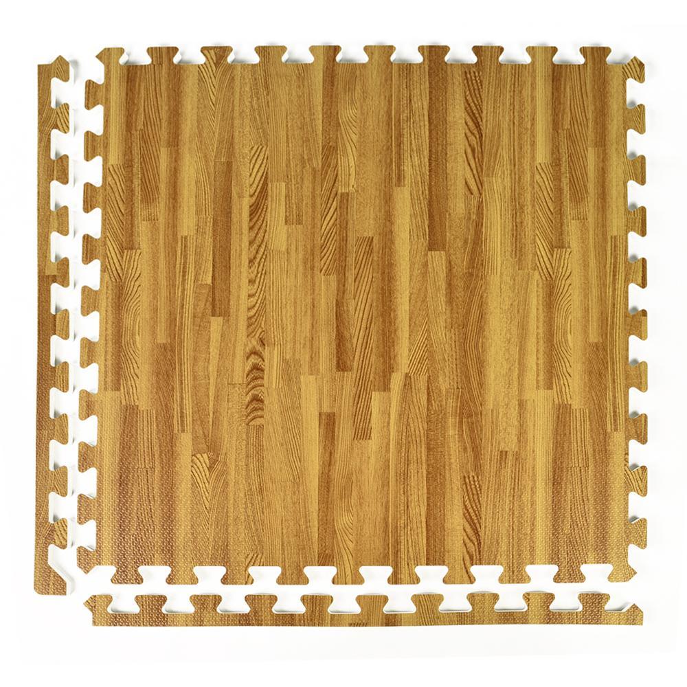 Greatmats Foamfloor Light Wood Grain Design 2 Ft X 2 Ft