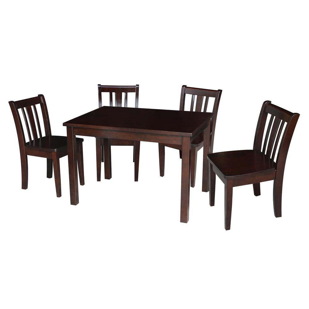 International Concepts Jorden Rich Mocha 5-Piece Child's Table Set