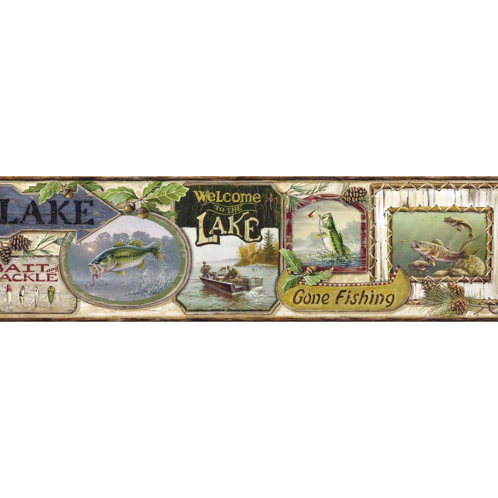 Skippy Cream Fishing Signs Portrait Blue Wallpaper Border
