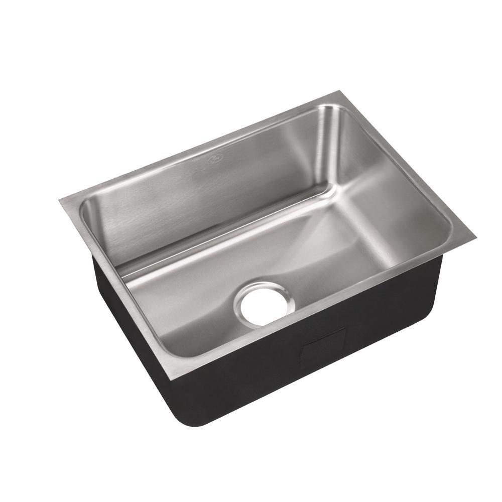 18-Gauge Stainless Steel 18 in. O.D. x 24 in. Single Bowl Undermount Deep Kitchen Sink
