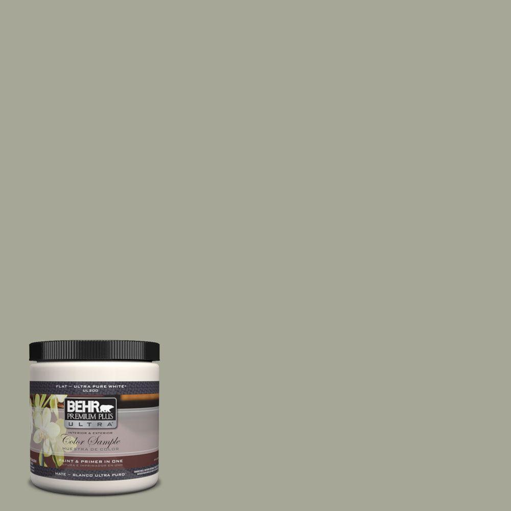 BEHR Premium Plus Ultra 8 oz. #UL200-6 Simply Sage Interior/Exterior Paint Sample